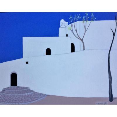 """Odette Collon. """" Paysage de Grèce"""". 1987."""