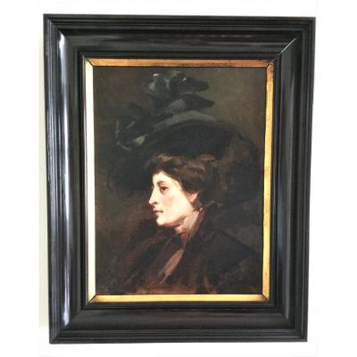 """Marguerite Radoux. """"portrait Of Elegant"""". 1900."""