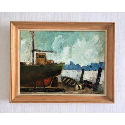 """Roland Buysse. """"marine In Ostend"""". 1963."""