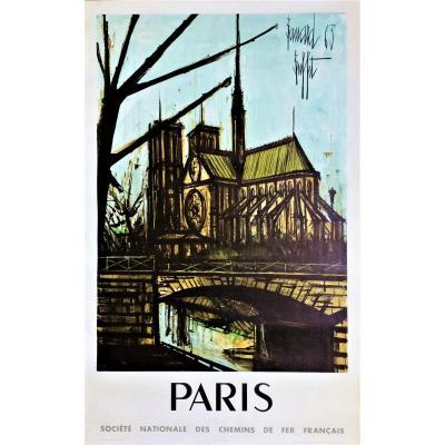 Bernard Buffet. Paris. Notre-dame. 1963. Affiche Sncf.