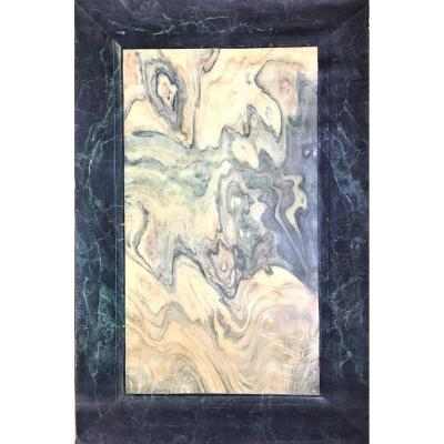 Faux Marble, Trompe l'Oeil. Oil On Strong Paper. 1900-1920