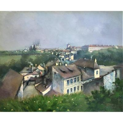 "Bohumil Gottlieb Hradecny (1876-1960). ""the Surroundings Of Prague Castle""."