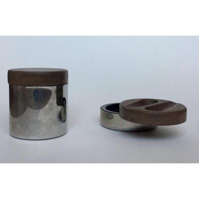 Tobacco Pot, Pipe Holder And Ashtray. Erhard. 1970s.