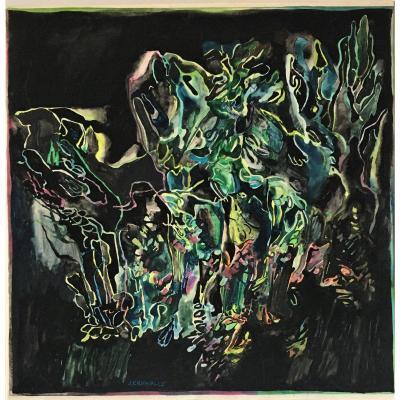 "José Crunelle (1924-2012). ""lyrical Vegetation"". The 50's."