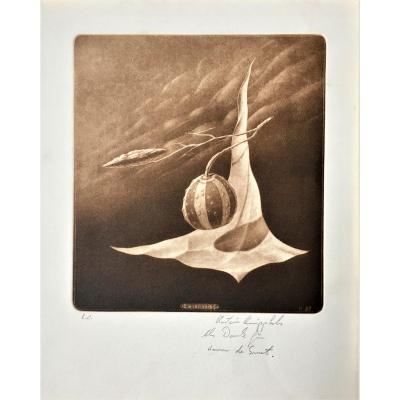 Martin Knipphals (born 1953). Surrealism. 1982. German School.
