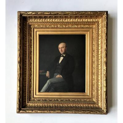 Révolution belge . Portrait représentant le patriote Louis de Potter (1786-1859). Vers 1830.