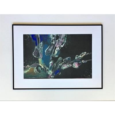 """José Crunelle (1924-2012). """" Abstraction"""". Années 70."""