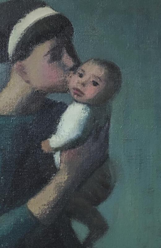 """Adrian Rosa  (Grenade , 1931). """" Mère et enfant"""". 1962.-photo-4"""