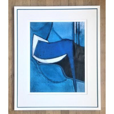 """Odette Collon (1926-2012). """" Abstraction"""". 1991. Pastel."""