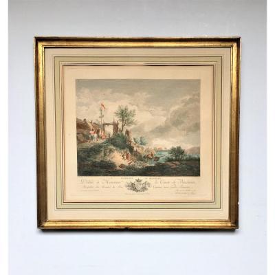 """Philippe Wouwerman( d'après) ."""" La matinée du printemps"""". 1778 ."""