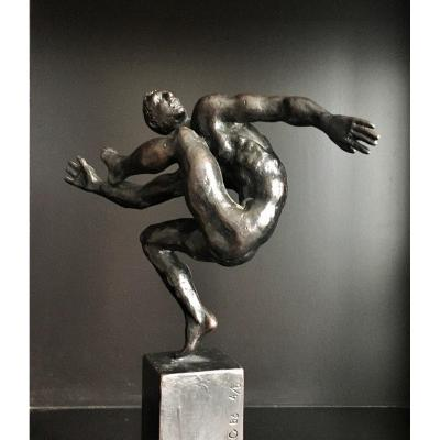 "Enrique Arredondo (Madrid, 1943). "" Nu masculin "". Bronze.  1983."