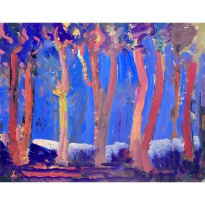"""Peter Colfs (1906-1983). """"Arbres"""". 1970."""