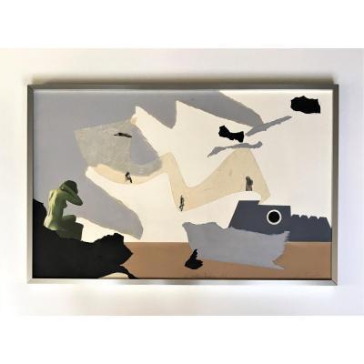 """Roger Londot (1929, Lodelinsart). """" La multiplication"""". 1973. Collage."""