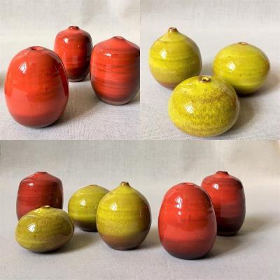 "Antonio Lampecco ( 1932-2019). Six petits vases "". Années 70."