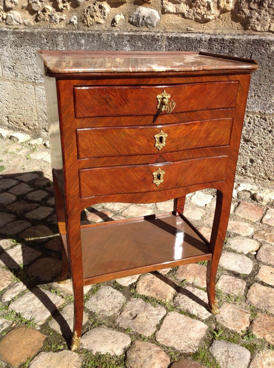 18th Century Bedside In Rio Rosewood