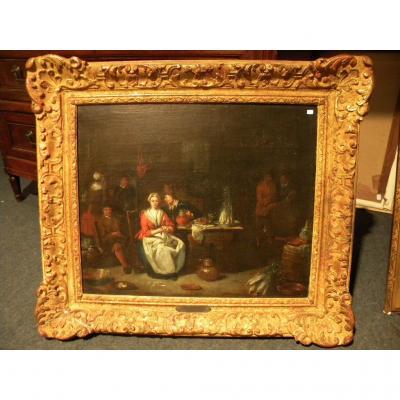Huile Sur Toile Attribué A Lambrecht (1680-1750)