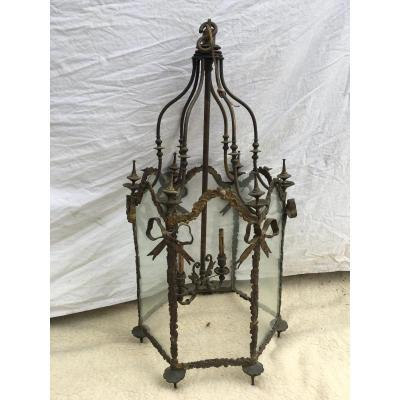 19th Century Bronze Lantern Style Transition