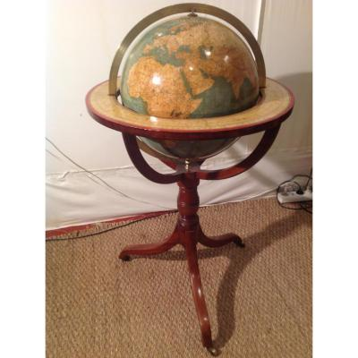 Globe Of Parquet Signed Larochette And Bonnefond