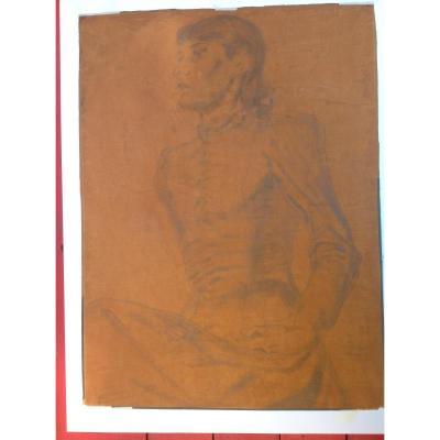 Dessin de foujita Léonard daté 1920 ( 1886-1968 )