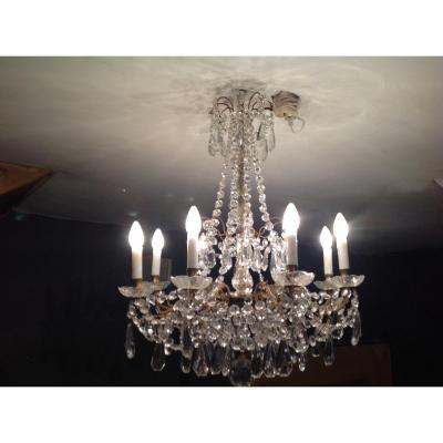 8-light Chandelier At 1900s