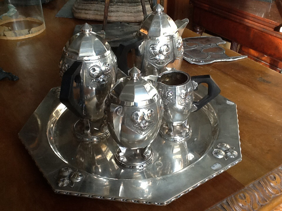Coffee Service And The Silver Metal Artdeco