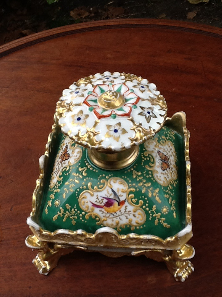 Paire De Flacon De Parfum En Porcelaine Signes Jacob Petit -photo-2
