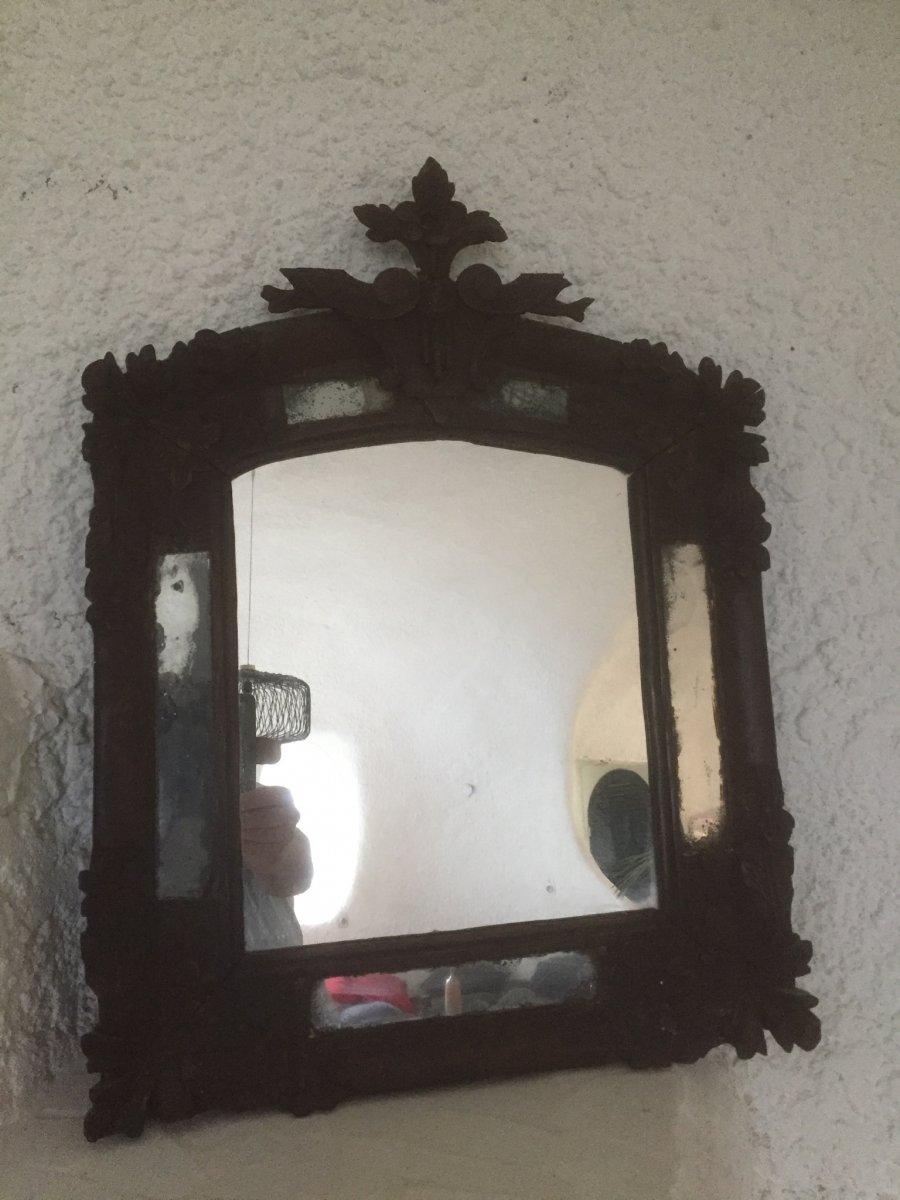 Miroir Bois Sculpté 18 Eme Siecle