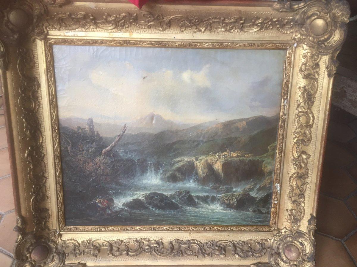 Peinture Paysage Début 19eme Signé  Soulie