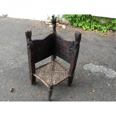 Chef African Armchair End Old 19 Eme