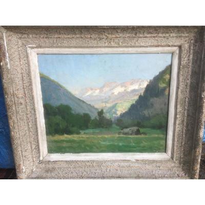 Peinture Montagne Signée Louis Frédéric Levé