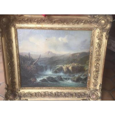 Landscape Painting Early 19th Signed Soulie