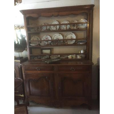 Buffet Dresser Two Doors Louis Quinze Merisier