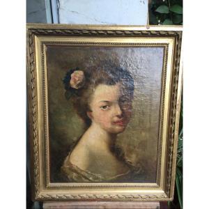 Tableau Portrait De Jeune Fille