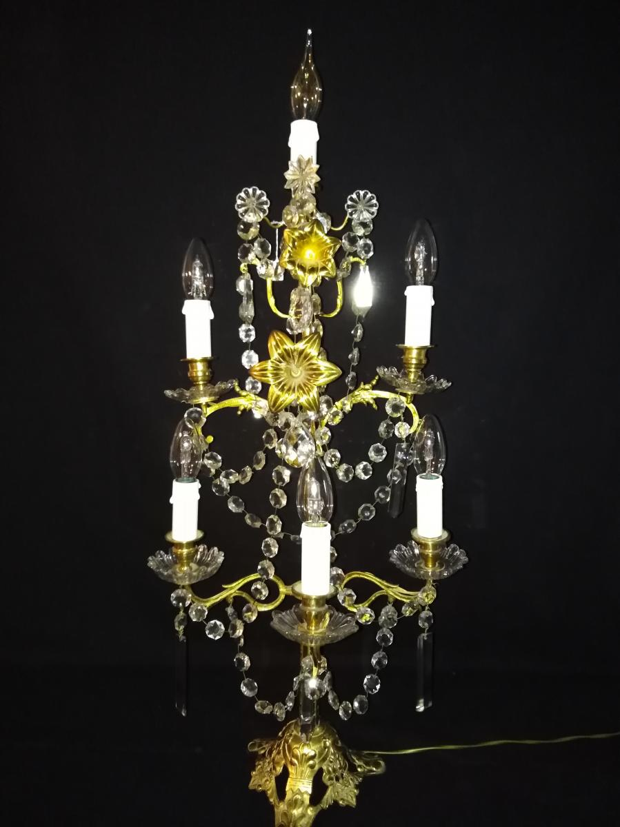 Grand Chandelier En Bronze XIXeme