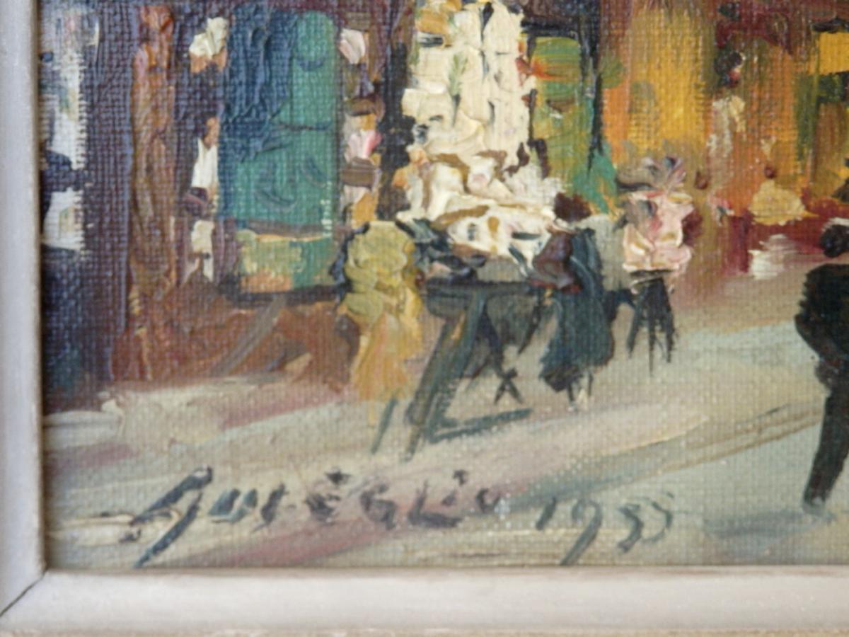 Merio Ameglio, Petite Huile Sur Toile: Montmartre, 1955-photo-3