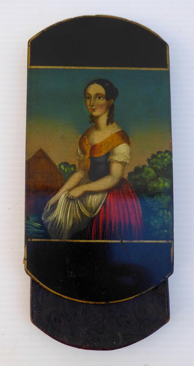 Etui à Cigares En Laque, époque Romantique, 1830, Bon état