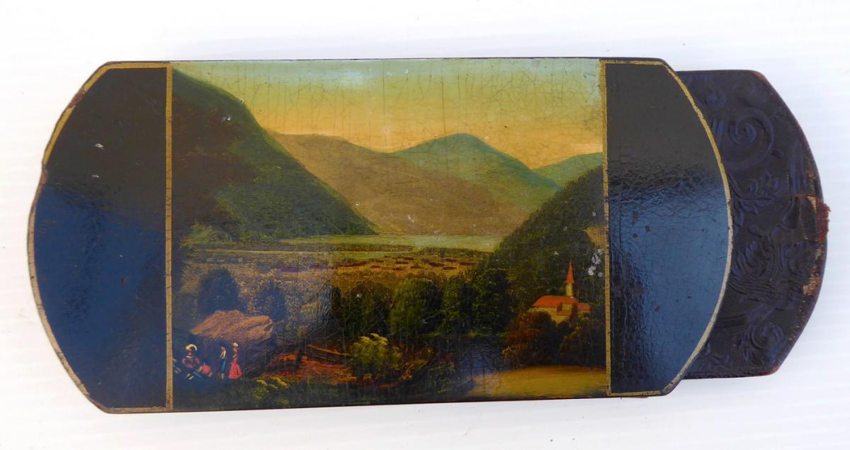 Cigar Pocket Case, Romantic Era, 1830 Good Condition-photo-2