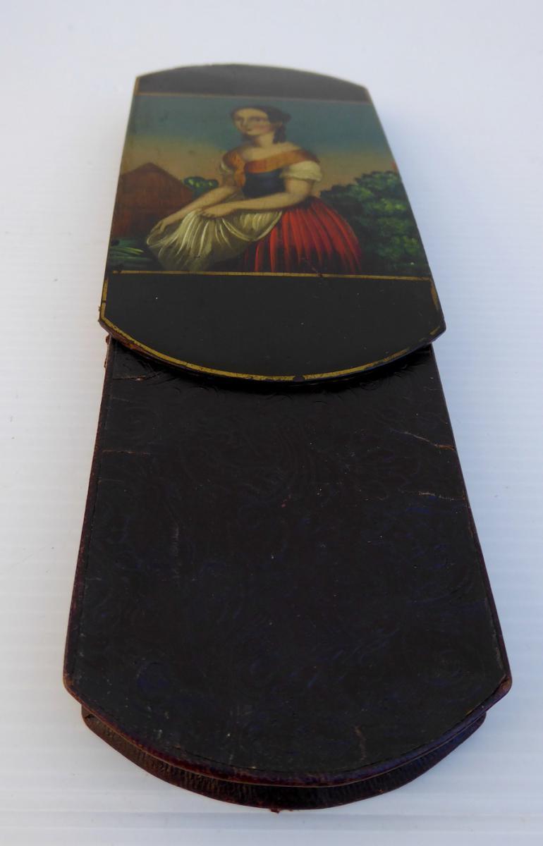 Cigar Pocket Case, Romantic Era, 1830 Good Condition-photo-3