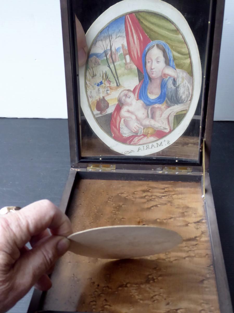 Loupe miroir concave de portraitiste miniaturiste xixe objets de curiosit for Miroir loupe