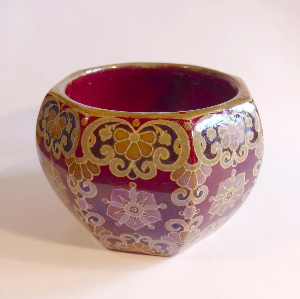 Zsolnay, Art Nouveau, Iridescent Ceramic Cup