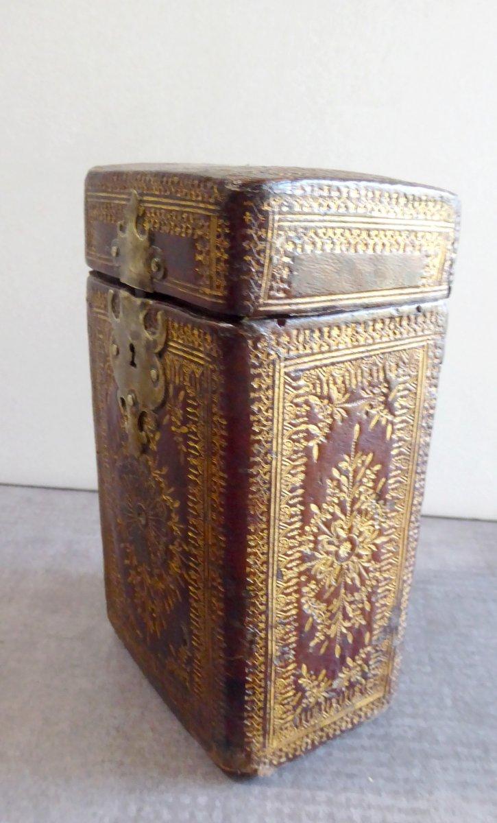 Precious Book Case, Box Louis XIV Gilt Calf Leather-photo-2