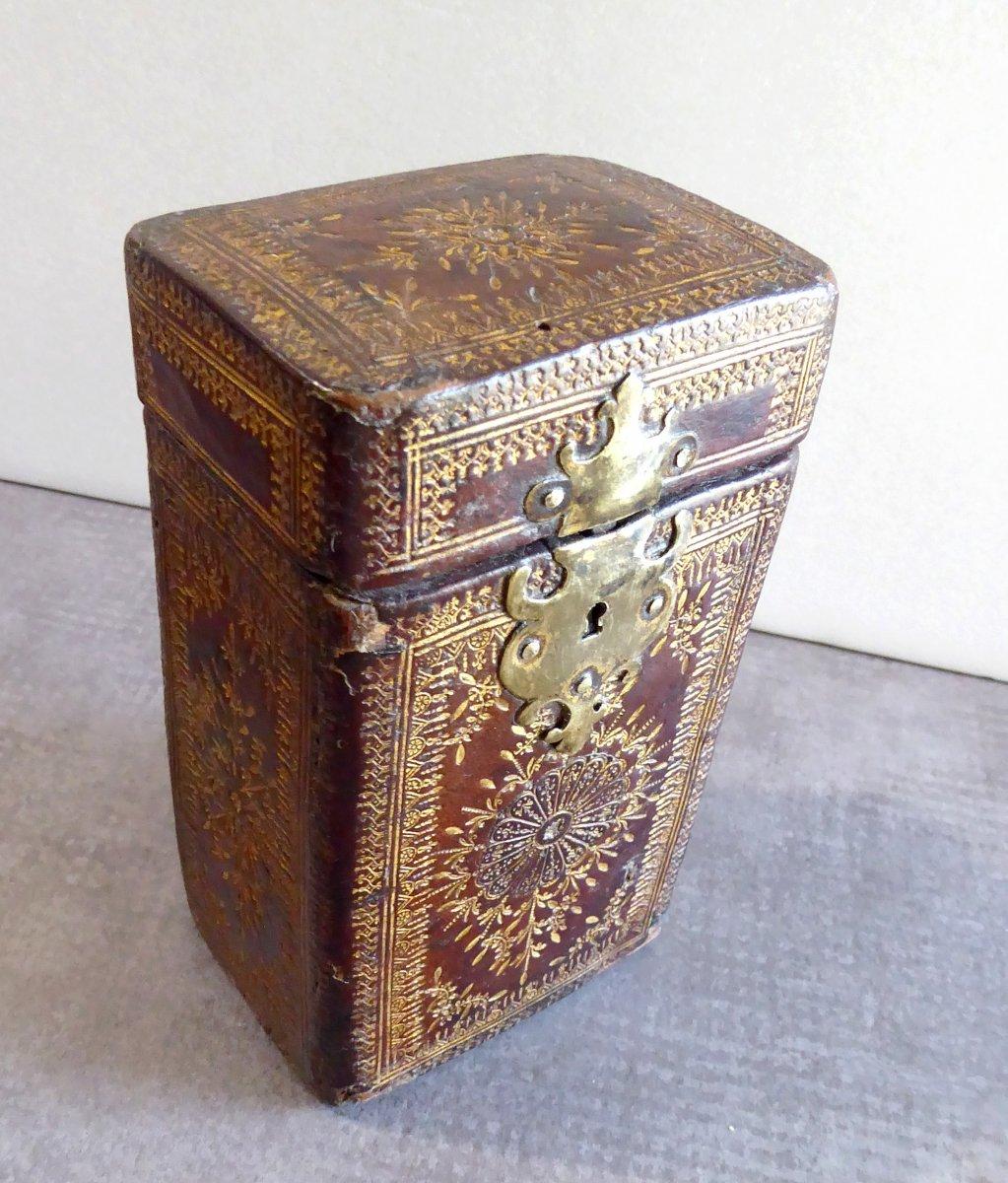 Precious Book Case, Box Louis XIV Gilt Calf Leather-photo-3