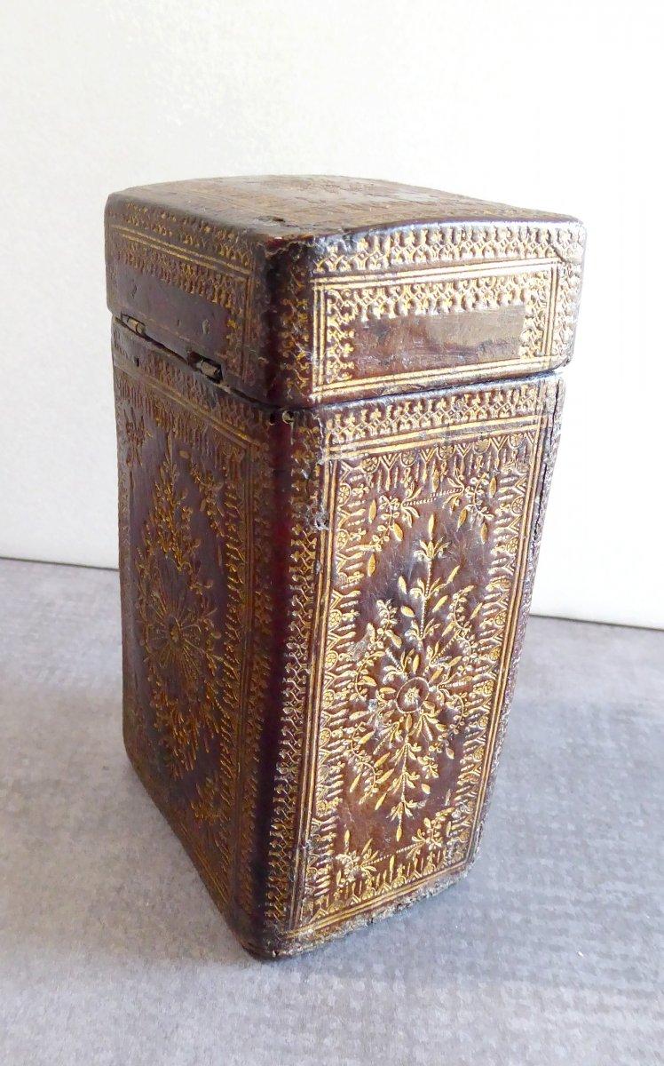 Precious Book Case, Box Louis XIV Gilt Calf Leather-photo-4