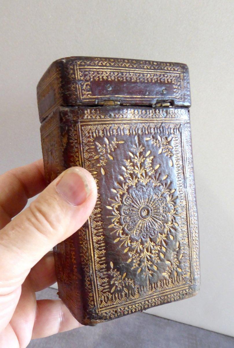 Precious Book Case, Box Louis XIV Gilt Calf Leather-photo-1