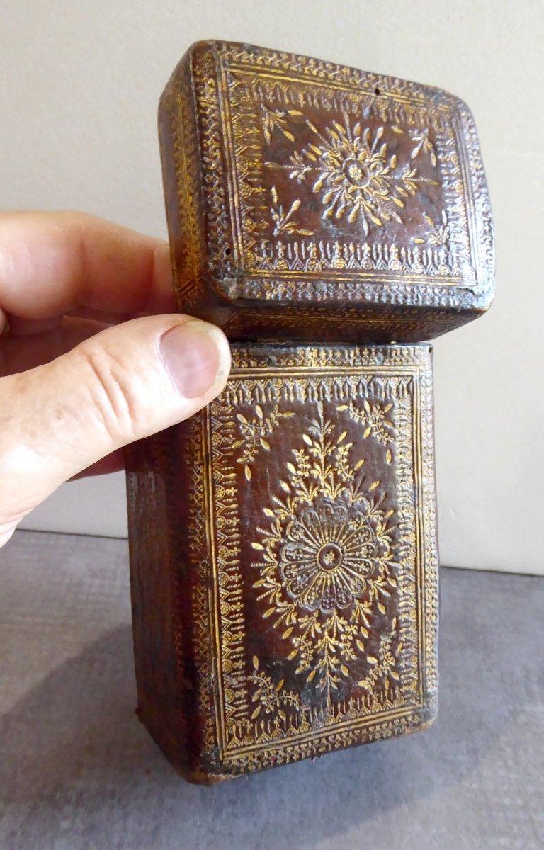 Precious Book Case, Box Louis XIV Gilt Calf Leather