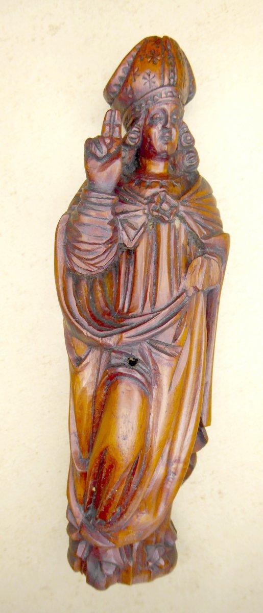 Saint Éloi, Buis Sculpté Art Populaire Religieux, XVIIIe: