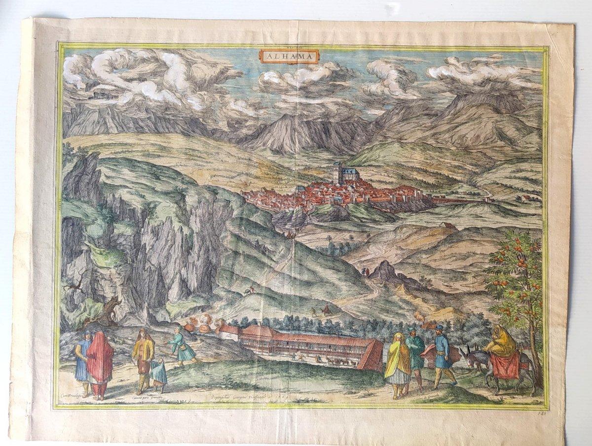 Les Sources Chaudes d'Alhama, Braun- 1564, Genuine Colors!-photo-2