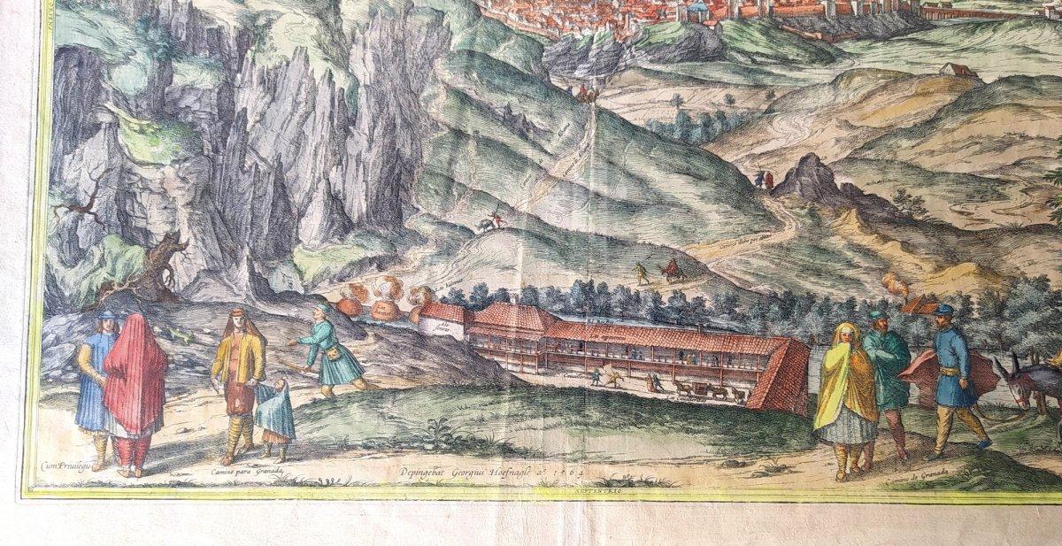 Les Sources Chaudes d'Alhama, Braun- 1564, Genuine Colors!-photo-3