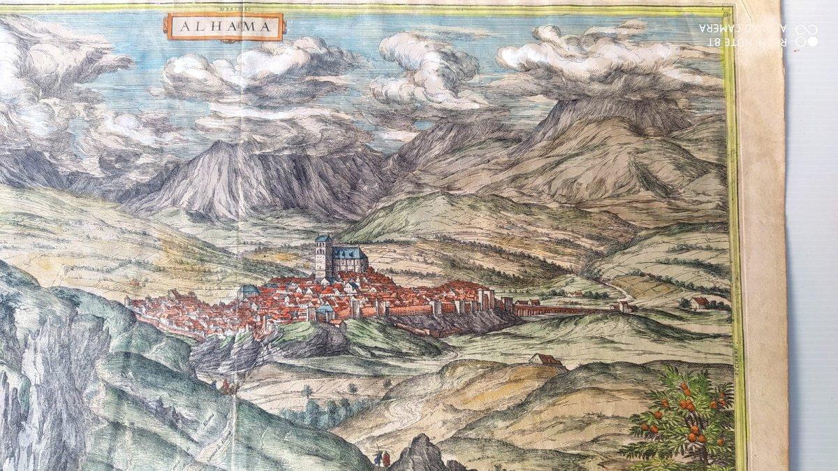 Les Sources Chaudes d'Alhama, Braun- 1564, Genuine Colors!-photo-4