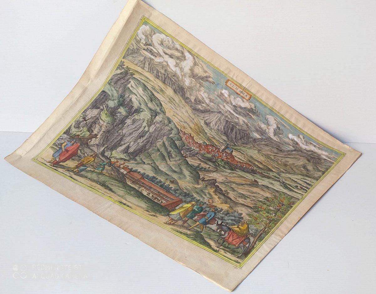 Les Sources Chaudes d'Alhama, Braun- 1564, Genuine Colors!